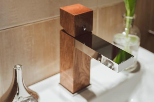 Unique wooden faucets for your bathroom