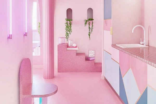 Pink living - step inside a magnificent apartment in Madrid