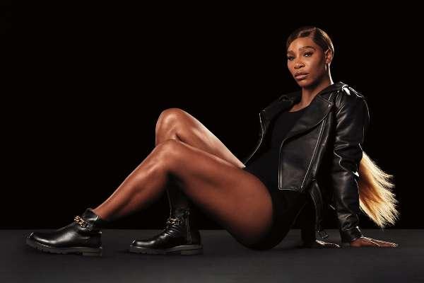 Serena Williams in the new Stuart Weitzman campaign