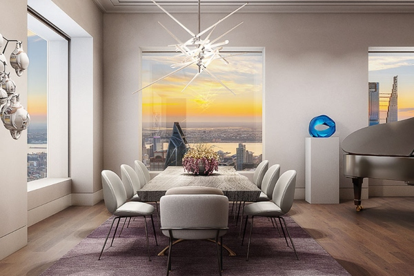 Sneak a peak into a penthouse in the fifth highest building of New York