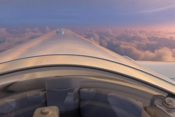 A completely different experience of flying
